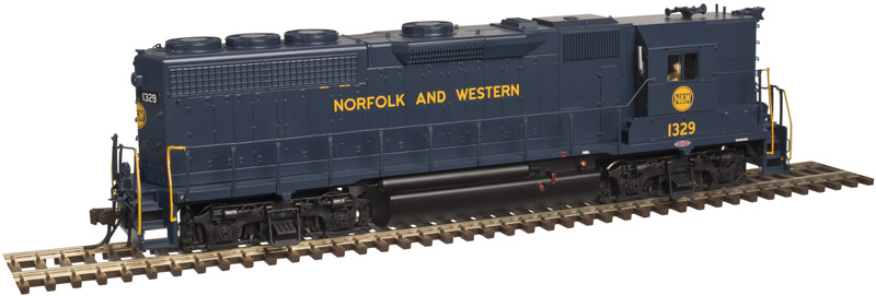 Atlas 10002416 HO Scale EMD GP40 High Nose w/Sound & DCC - Master Gold -- Norfolk & Western #1329