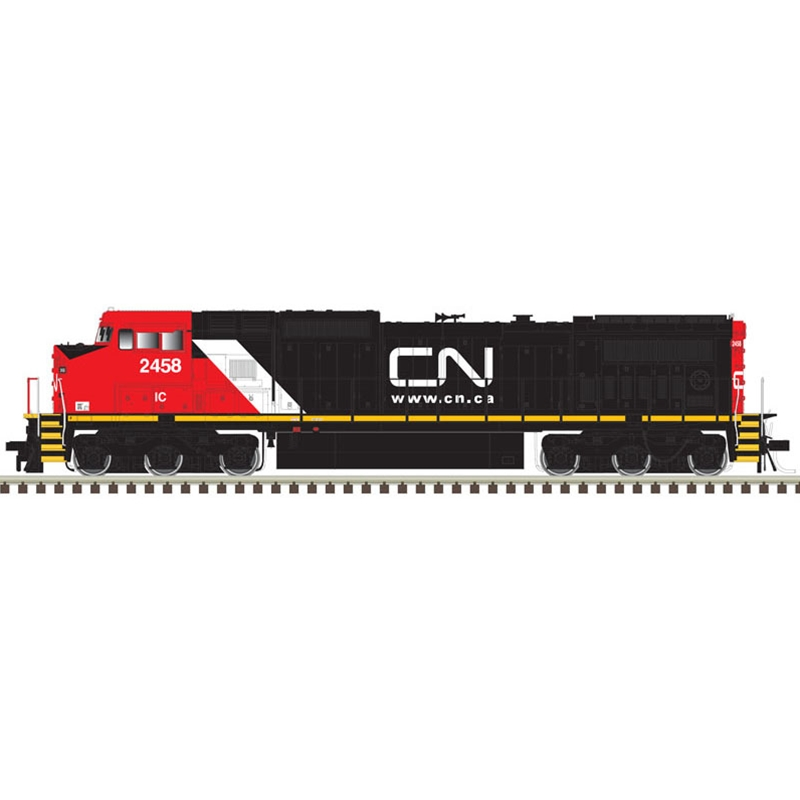 Atlas 10003135 HO 8-40 CW Gold  Series DCC and Sound Canadian National (website scheme) No.2461