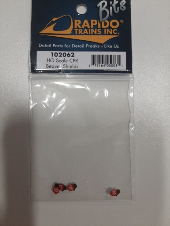 Rapido Trains 102062 - HO CPR Beaver Shield Logos (4pcs)
