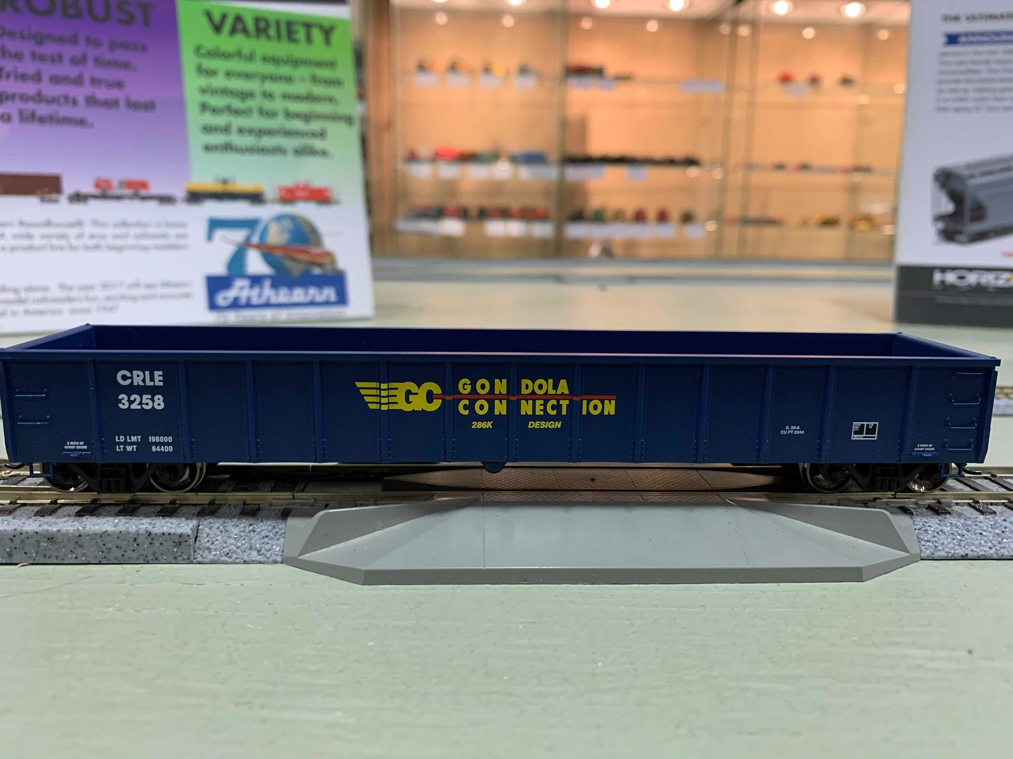 Athearn 97384 HO Scale - RTR 52Ft Mill Gondola, CRLE/GonConnec #3119