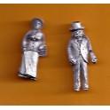 Juneco Scale Models C-103 - 1890 Man and Woman - 2 Unpainted Figures