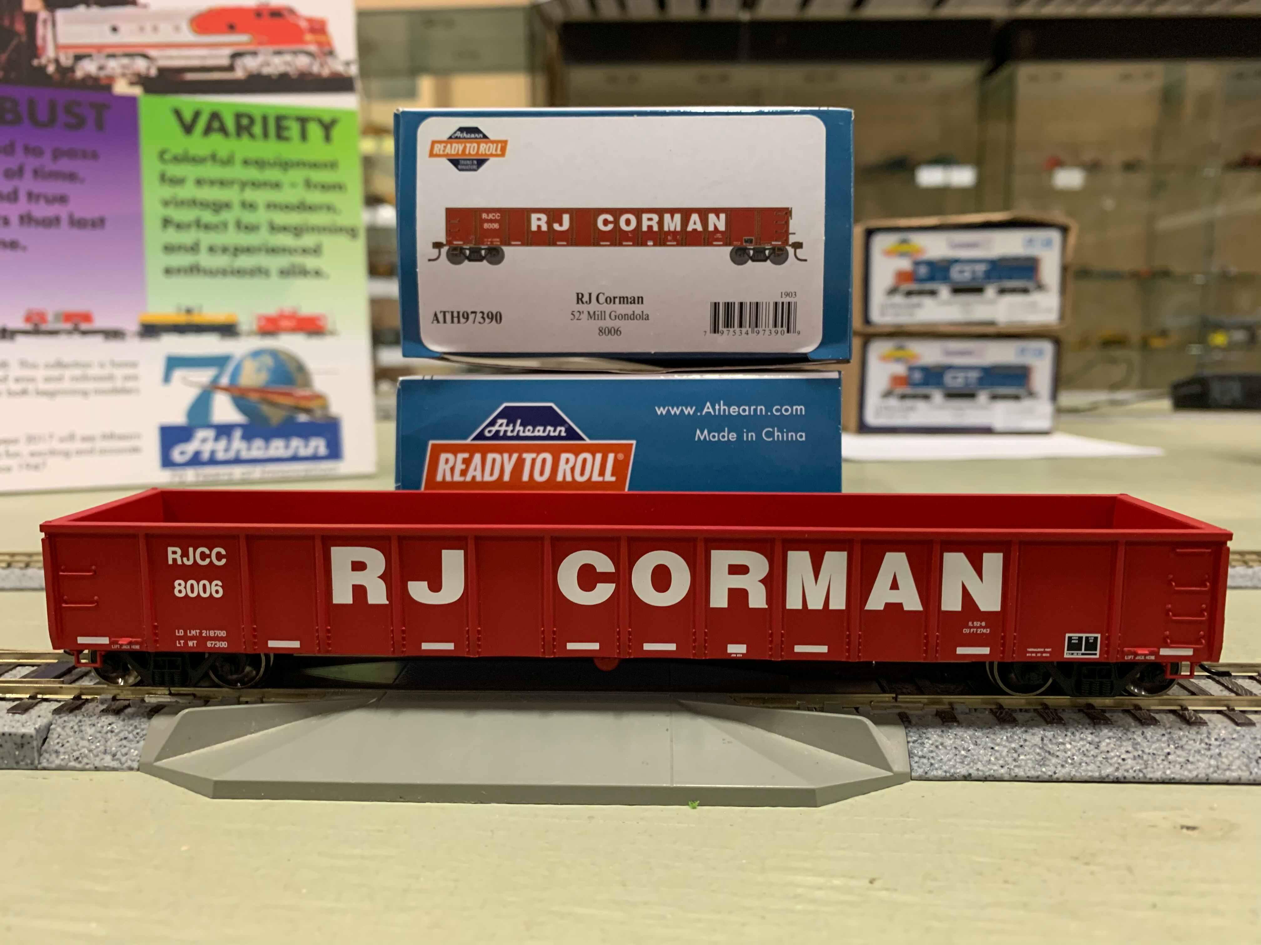Athearn 97390 HO Scale - RTR 52Ft Mill Gondola, RJCC RJ Corman #8006