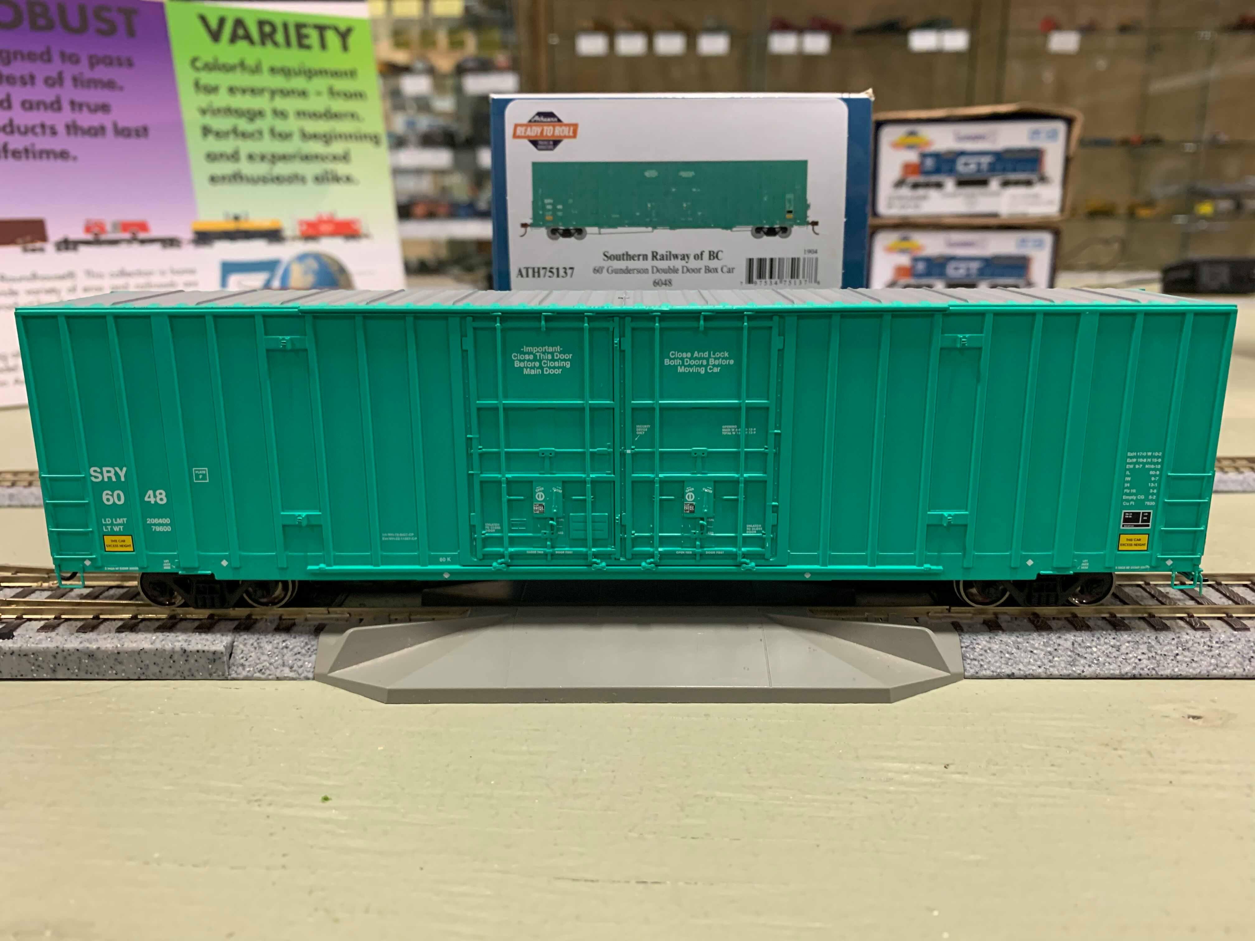 Athearn 75136 HO Scale - RTR 60Ft Gunderson DD Hi-Cube Box - SRY #6034