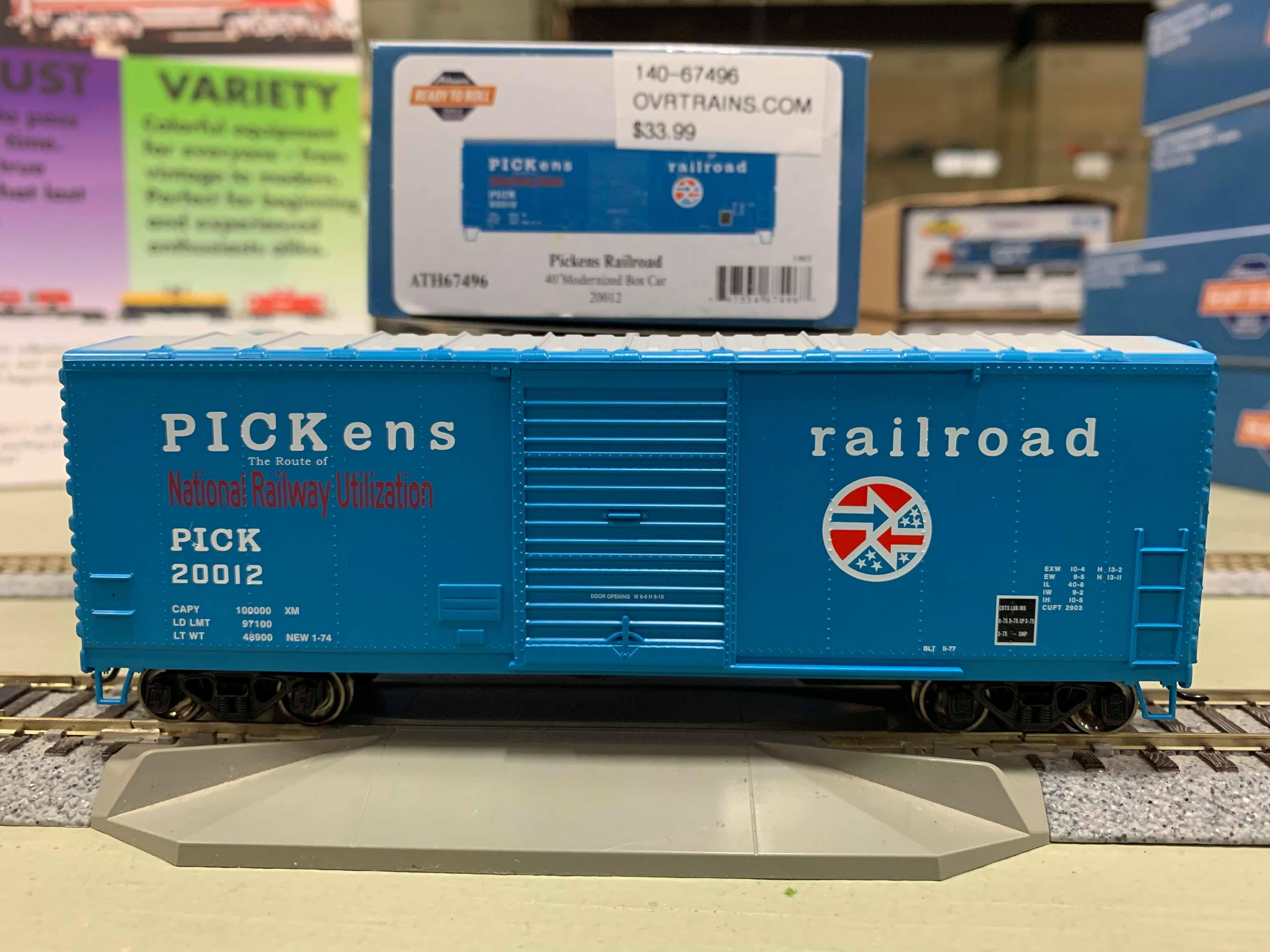 Athearn RTR 67497 HO - 40 Ft Modernized Box - PICK #20014
