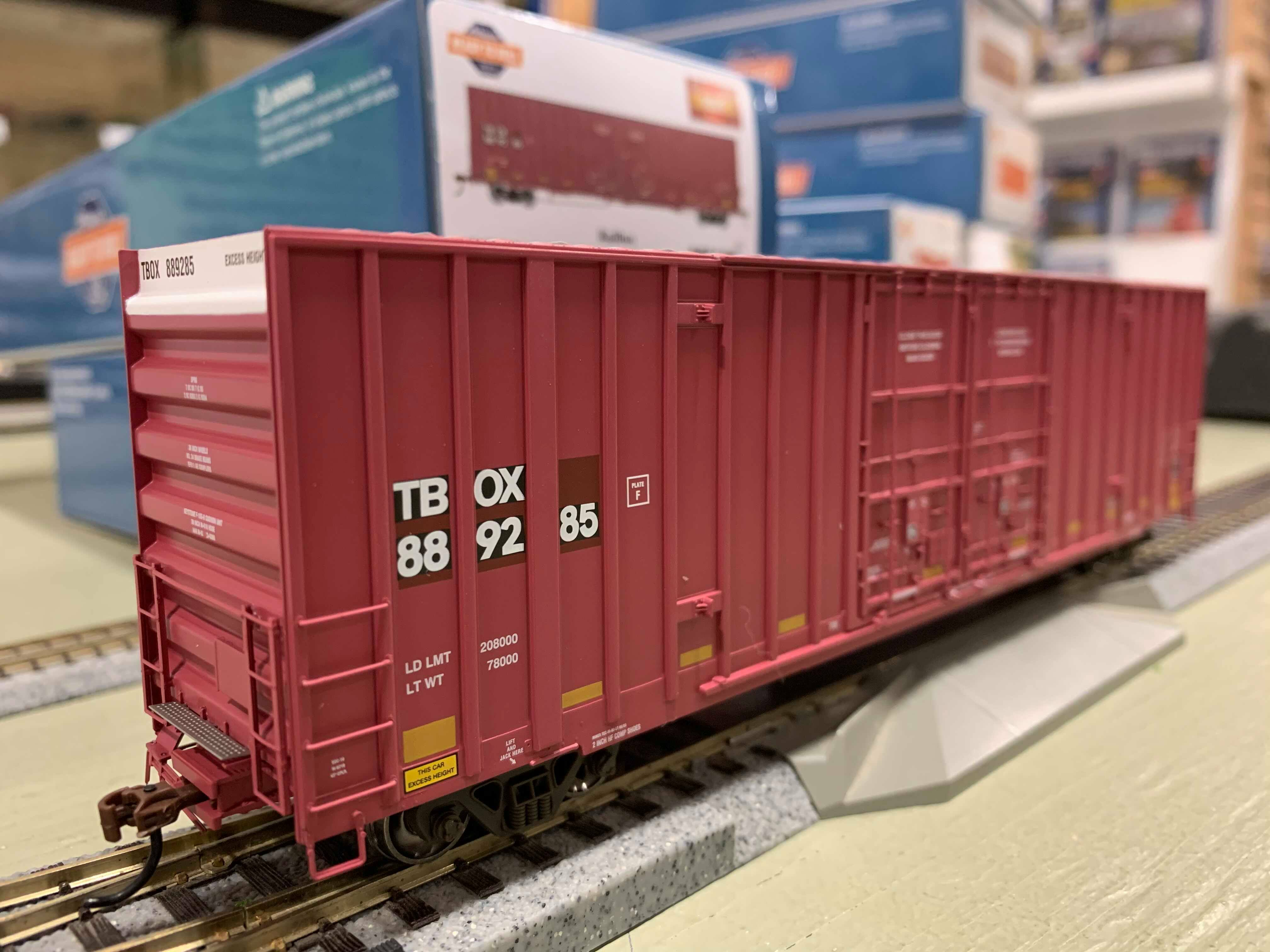 Athearn 75124 HO Scale - RTR 60Ft Gunderson DD HC Box - TBOX/TTX/Patched #1