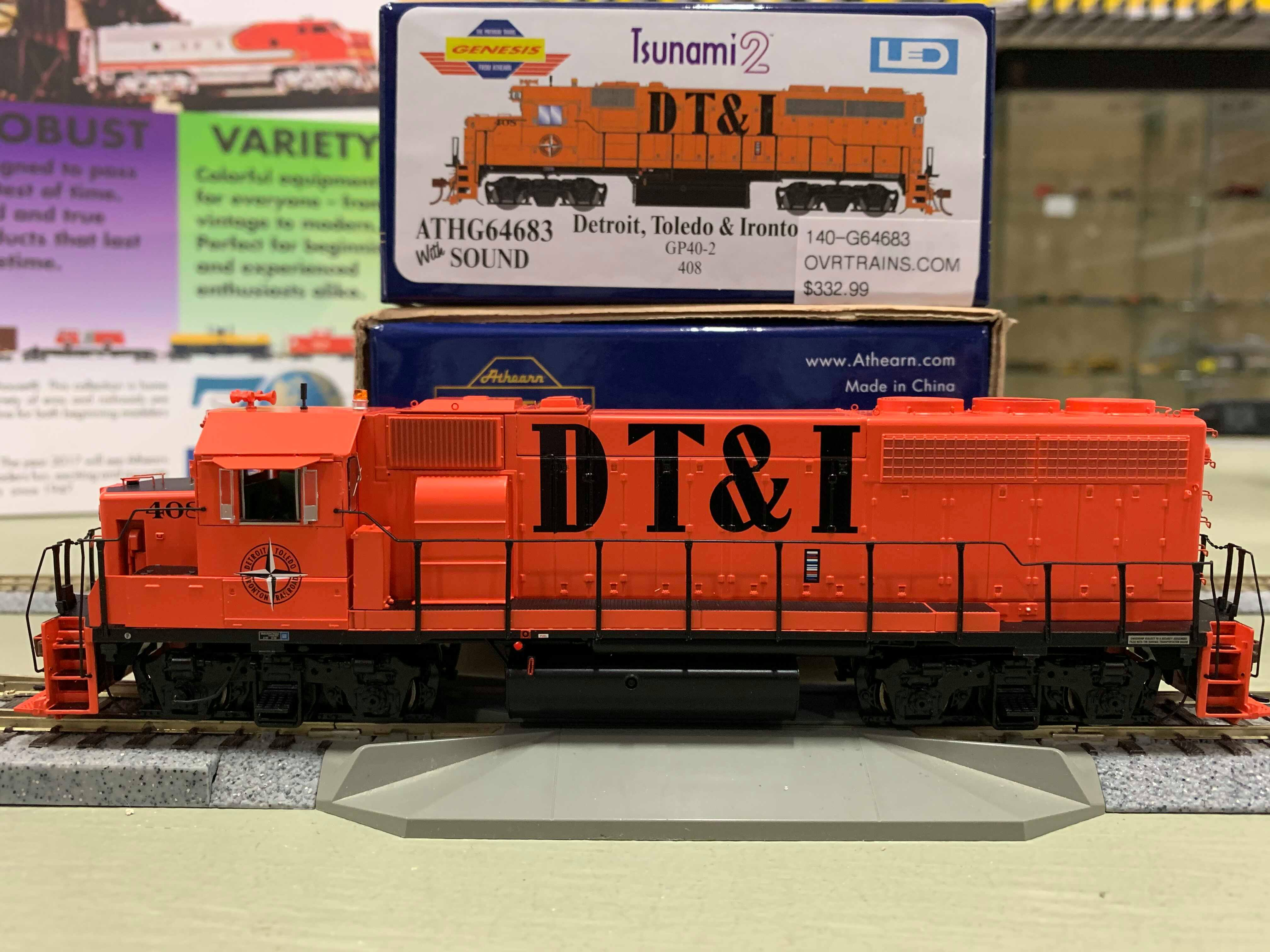 Athearn Genesis G64684 HO Scale - GP40-2 - DCC & Sound - DT&I #409