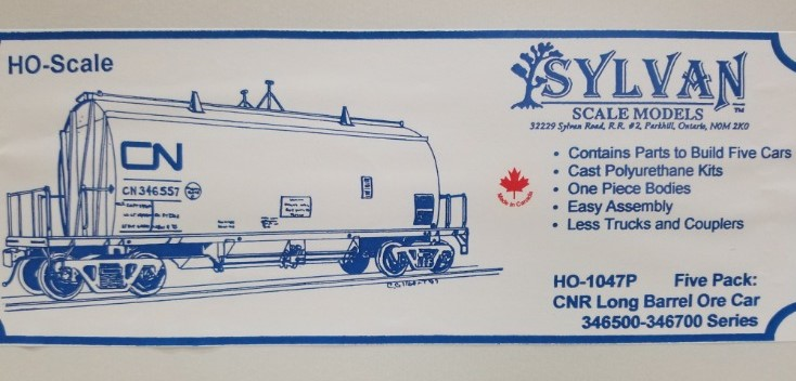 Otter Valley Railroad Model Trains Tillsonburg Ontario Canada Ho Scale Vehicles Sylvan Scale Models 1047p Ho Scale Cnr Long Barrel Ore Car Five Pack Unpainted And Resin Cast Kit