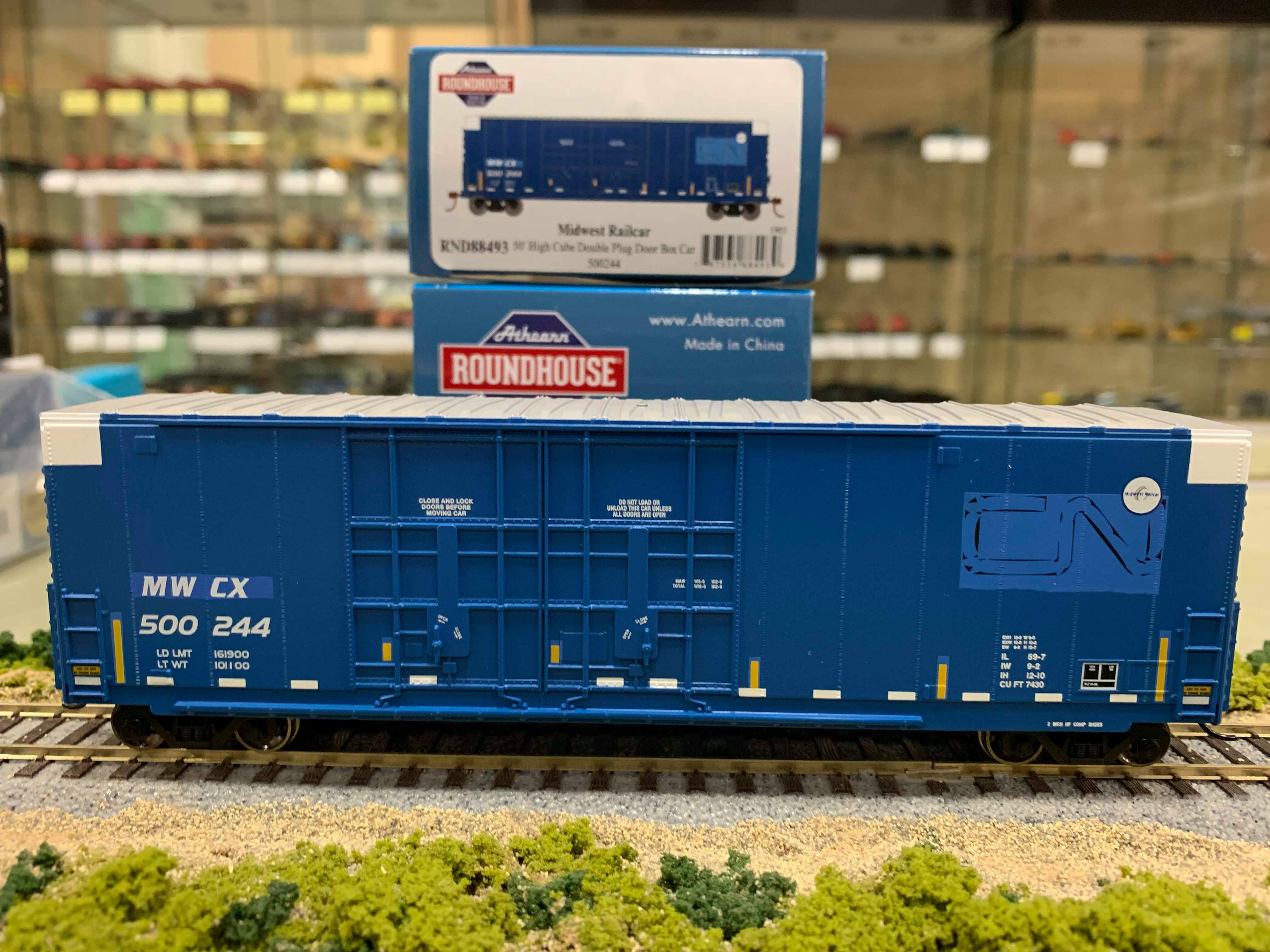 Athearn RND88493 HO Scale - 50Ft High Cube Double Door Plug Box - MWCX ex GT #1