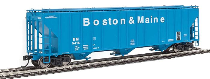 Walthers Proto 106157 - HO 55Ft Evans 4780 Covered Hopper - Boston & Maine #5416