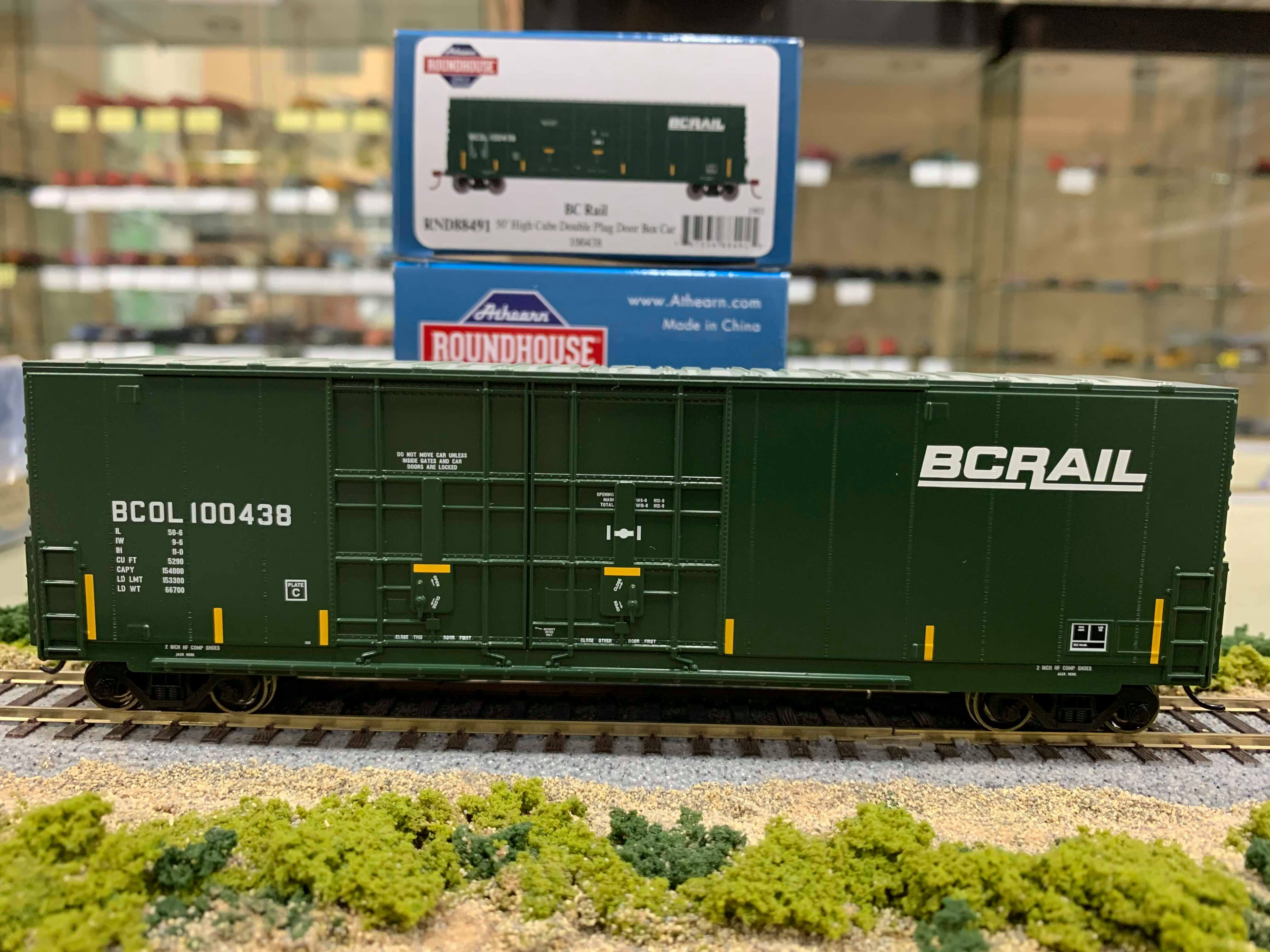 Athearn RND88150 HO Scale - 50Ft High Cube Double Door Plug Box - BCOL #100427