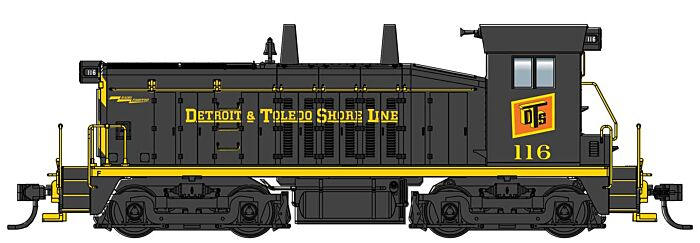 Walthers Mainline 10655 - HO EMD SW7 - Standard DC - Detroit & Toledo Shore Line #116