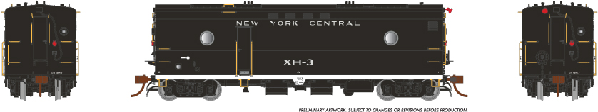 Rapido Trains 107335-3 HO Steam Heater Car New York Central No.XH-5