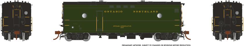 Rapido Trains 107341-1 HO Steam Heater Car Ontario Northland - Green Scheme No.200