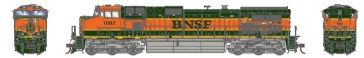 Athearn G31613 HO Scale - G2 Dash 9-44CW Diesel, DCC & Sound - BNSF Railway H1 #1082