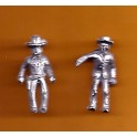 Juneco Scale Models C-109 - Sheriff and Drunk - 2 Unpainted Figures
