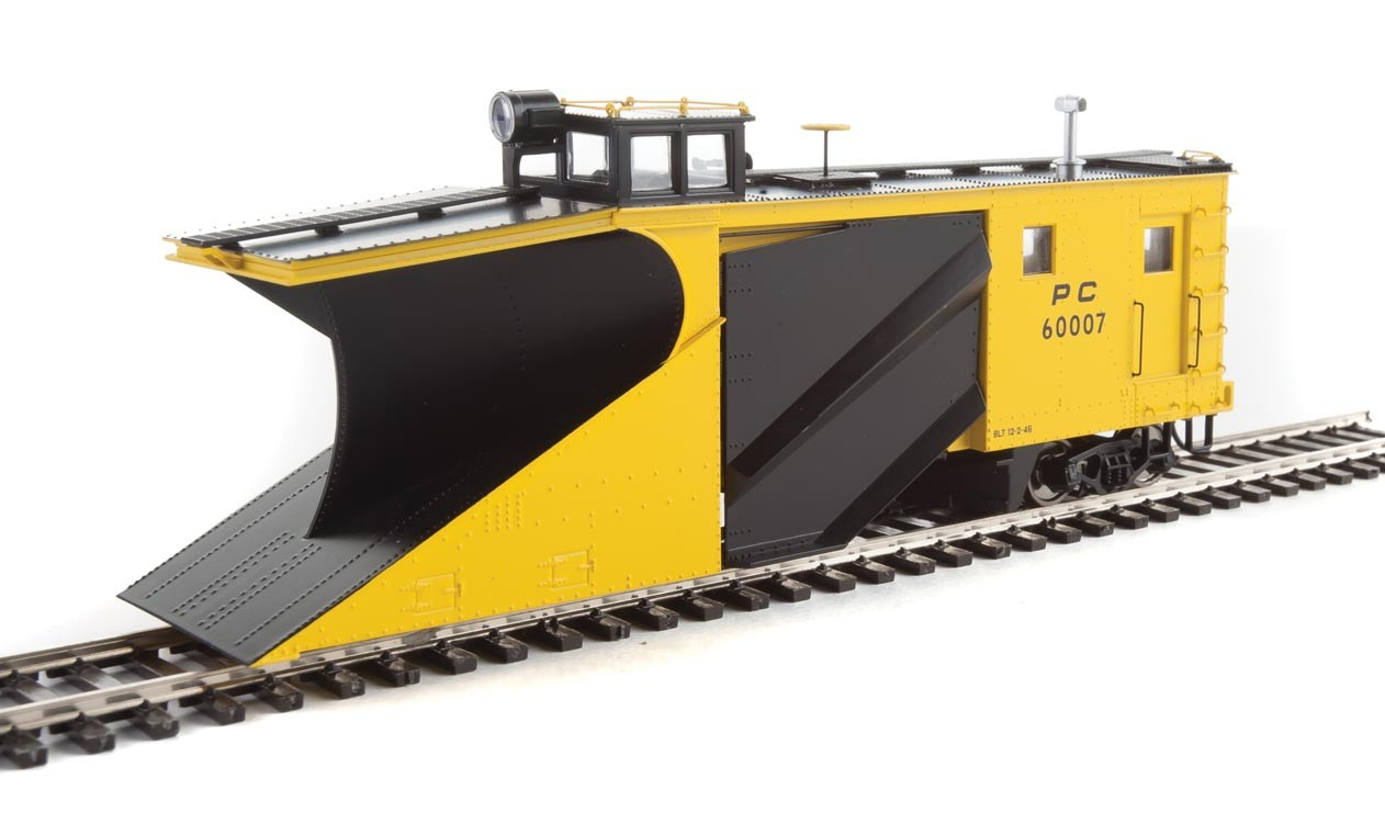 WalthersProto 110027 HO - Russell Snowplow - Ready to Run - Penn Central #60007 (yellow, black)