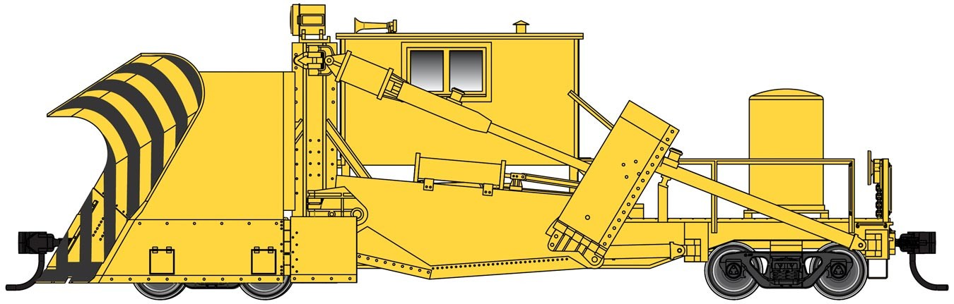 Walthers Proto 110126 - HO Ready to Run - Jordan Spreader - Painted, Unlettered (Yellow)