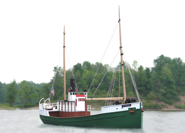 Sylvan Scale Models 1115 HO Scale - Pacific Coast Lumber Boat Kit - Tiverton - Unpainted and Resin Cast
