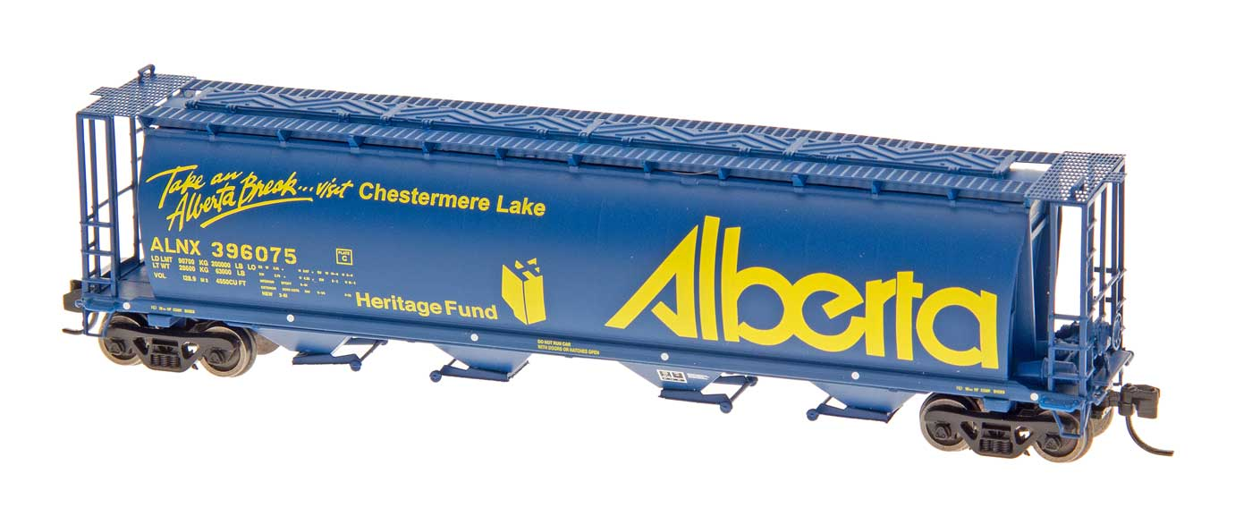 Intermountain 65117-63 N Scale - Cylindrical Covered Hopper - Trough Hatch - Alberta - ALNX #396219 M.D. of Acadia