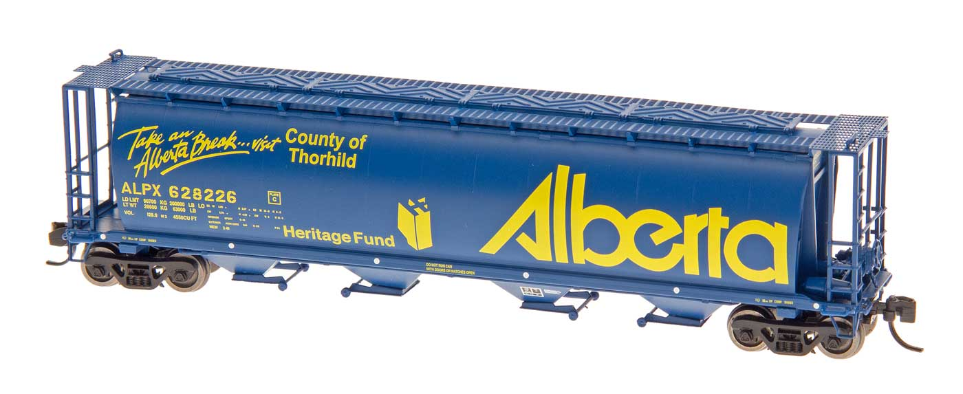 Intermountain 65118-62 N Scale - Cylindrical Covered Hopper - Trough Hatch - Alberta - ALPX #628164 Girouxville