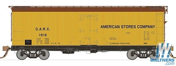 Rapido 121050-1 HO 37ft General American Meat Reefer American Stores No.1913