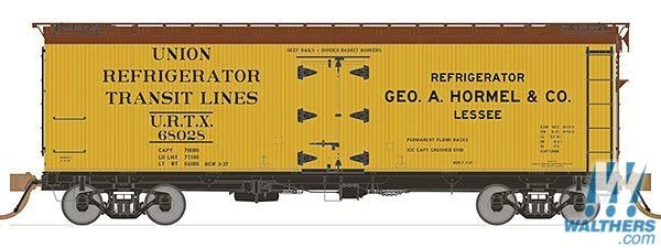 Rapido Trains 121055-4 37ft General American Meat Reefer Hormel No.68039