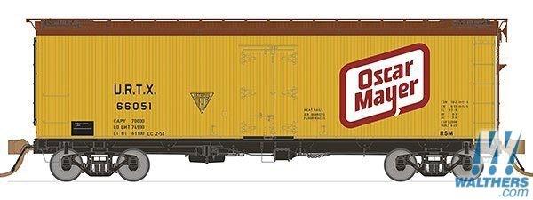 Rapido Trains 121058-3 37ft General American Meat Reefer Oscar Mayer (Large Logo) No.66058