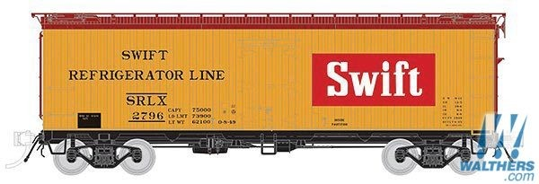 Rapido Trains 121060-3 37ft General American Meat Reefer Swift (Red Block)  No.2781