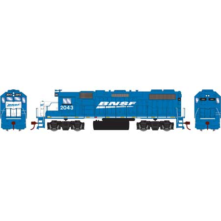 Athearn Roundhouse 12621 HO GP38-2 BNSF Blue and White, DCC No.2044