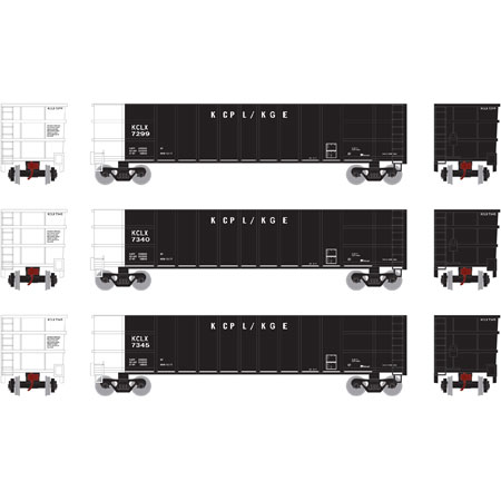 Athearn 27127 HO - RTR Thrall High Side Gondola w/Load - KCLX (3 pack) #2