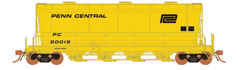 Rapido 133009-1 - HO ACF PD3500 Flexi Flo Hopper - Penn Central/CR Scale Test Car Version 3(996H) -inservice 1969 No. PC 80019