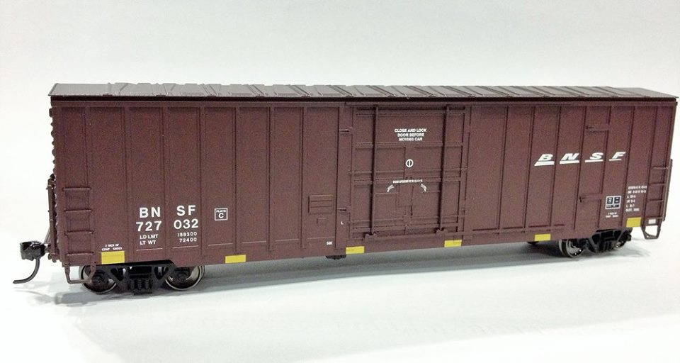 Fox Valley Models 30241 HO Soo Line Built 7 Post Boxcar - Burlington Northern & Santa Fe #727032