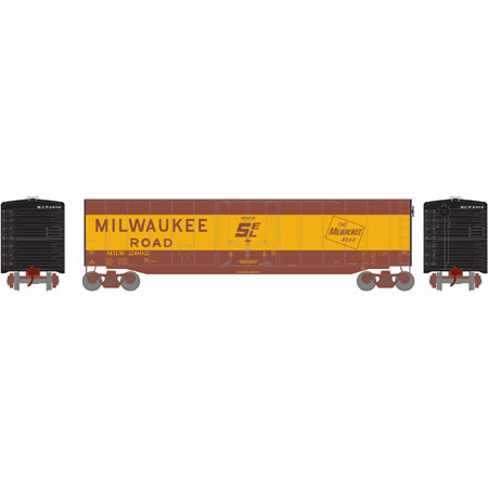 Athearn Roundhouse 79105 HO 50ft Plug Door Smooth Side Box, MILW No2602