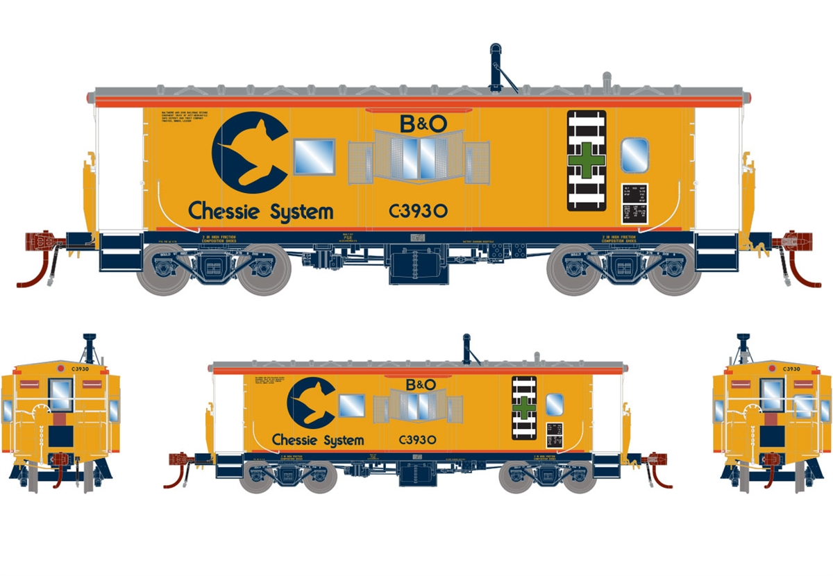 Athearn G78532 - HO Scale ICC Caboose w/lights DCC Ready - B&O/ Chessie #C-3962