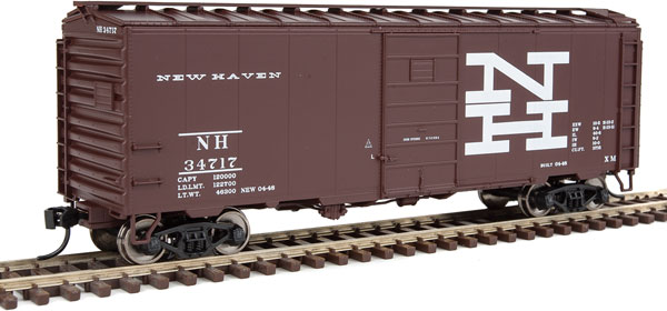 Walthers Mainline 1410 HO Scale 40 Ft PS 1 Boxcar New Haven #34717