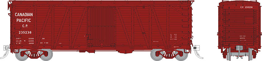 Rapido 142104-4 - HO USRA CPR Clone Boxcar: Canadian Pacific - Late #236582