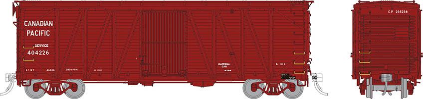 Rapido 142105-3 - HO USRA CPR Clone Boxcar: Canadian Pacific - Service #404229