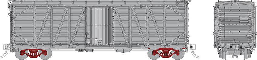 Rapido 142199 - HO USRA CPR Clone Boxcar: Undecorated