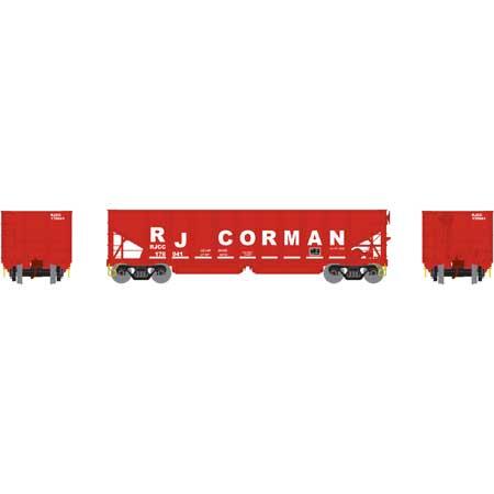 Athearn 14261 HO RTR 40ft OB Ballast Hopper/Load RJ Corman No.76941