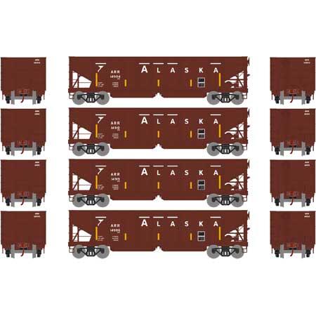 Athearn 14274 HO RTR 40ft OB Ballast Hopper/Load ARR 4pk Set 1