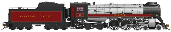 Rapido Trains 600507 HO Scale Canadian Pacific Royal Hudson CPR #2851 Classes H1d - DCC & Sound