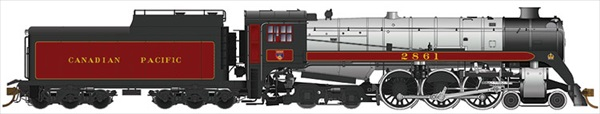 Rapido Trains 600511 HO Scale Canadian Pacific Royal Hudson CPR #2861 H1e - DCC & Sound