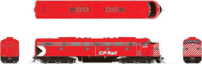 Rapido 28017 HO - EMD E8A (DC/Silent) CP Rail - Action Red #1802