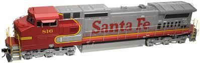 Atlas 10 002 278 HO Dash 8-40CW Locomotive Silver DCC Ready Santa Fe No.829