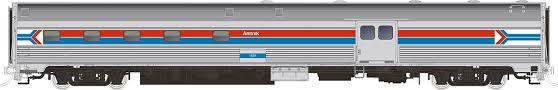 Rapido 114024 HO Scale - Budd Baggage-Dorm - Amtrak - Phase 1 #1532