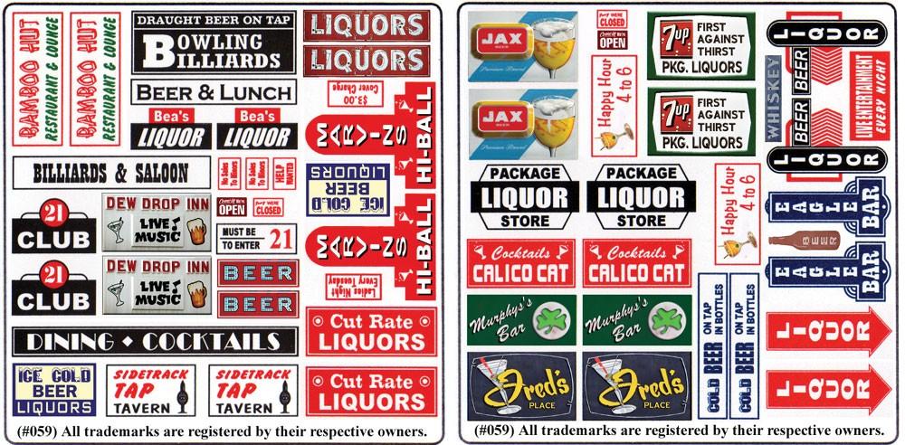Blair Line 159 HO - Storefront & Advertising Signs - Tavern & Liquor Store