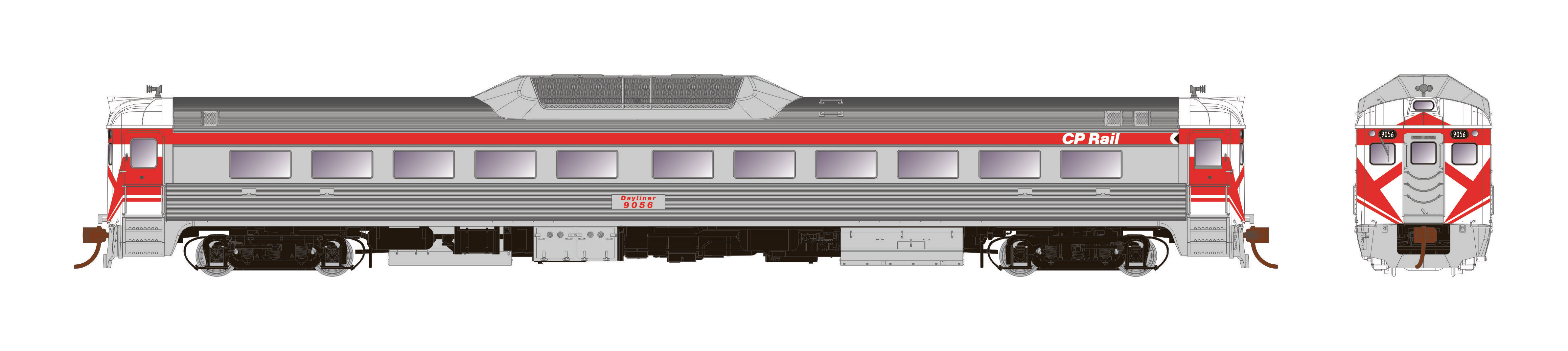 Rapido Trains 16208 - HO Budd RDC-1 - PH2 - DC - CP Rail Unnumbered