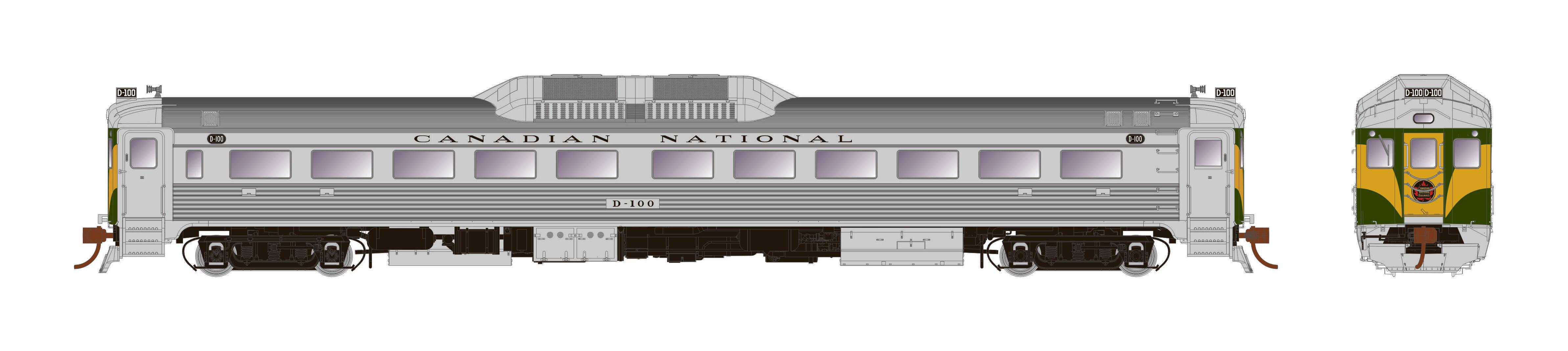 Rapido Trains 16710 - HO Budd RDC-1 - PH1b - DCC/Sound - Canadian National #D101