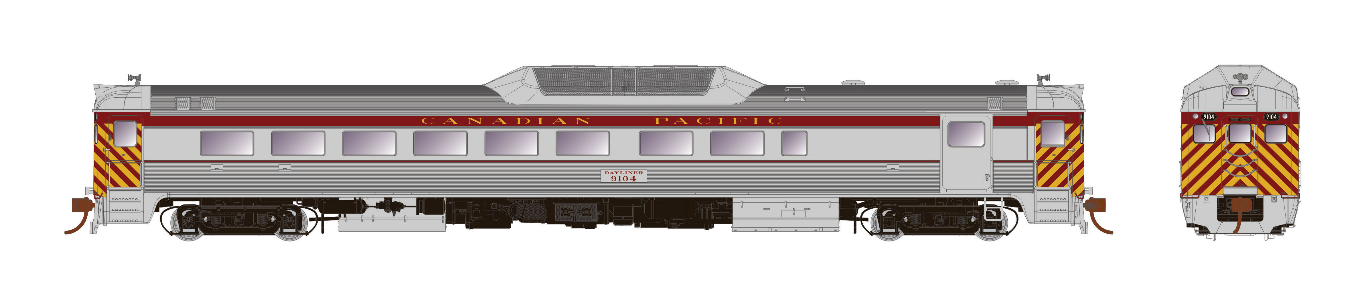 Rapido Trains 16718 - HO Budd RDC-2 - PH2 - DCC/Sound - Canadian Pacific #9104