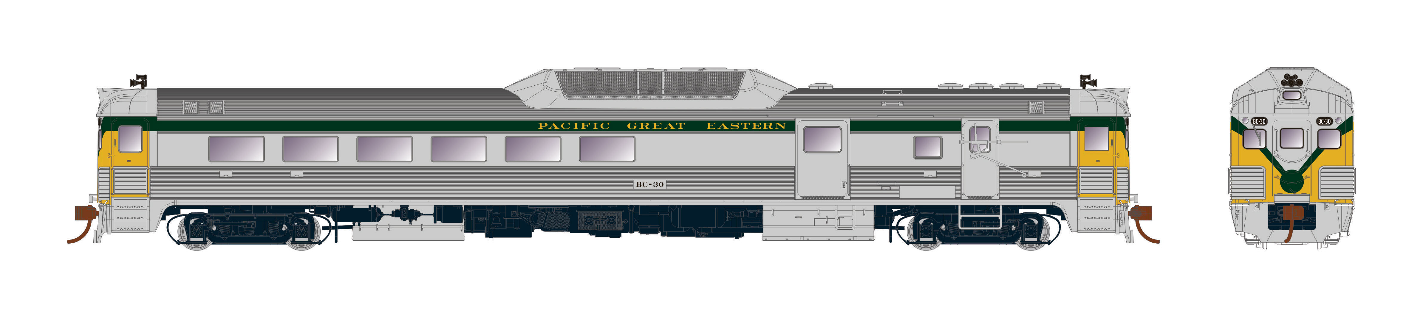 Rapido Trains 16754 - HO Budd RDC-3 - PH2 - DCC/Sound - Pacific Great Eastern #BC33
